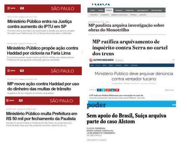 A degradação do Ministério Público de São Paulo em algumas manchetes