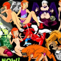 "Naughty Charmcaster from ""Ben 10"" shows her pussy"