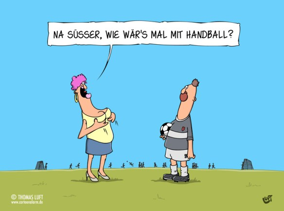 Thomas Luft, Cartoon, lustig, Handball