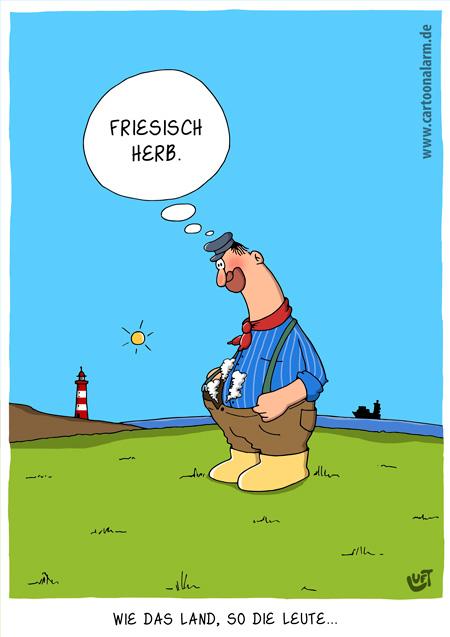 Thomas Luft, Cartoon, lustig, Friesisch herb