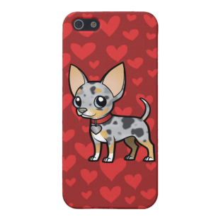 Cartoon Blue Merle Chihuahua iPhone 5 Case