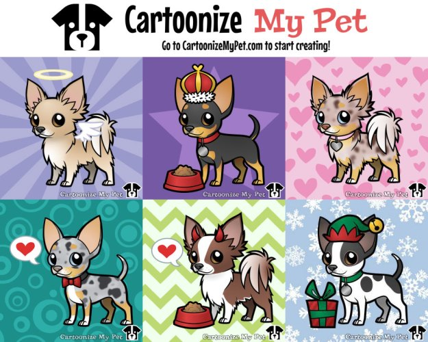 chihuahuas created on cartoonize my pet