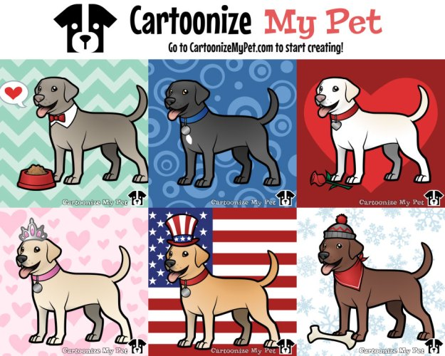 labradors created on cartoonize my pet