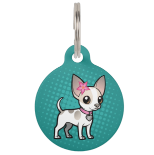Cute customizable chihuahua pet tag