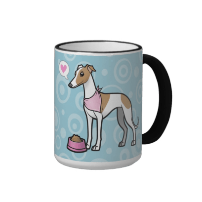 Cute italian greyhound mug