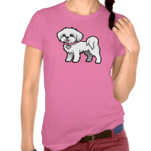 Ladies Pink Maltese T-shirt