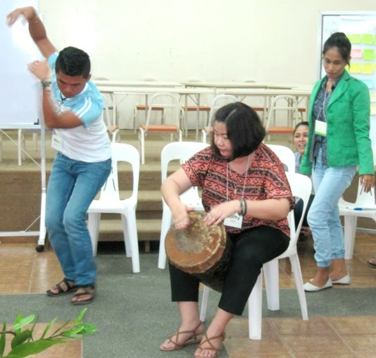 Representatives from Cartwheel communities and MAGIS Creative Spaces use music and dance as forms of free expression.