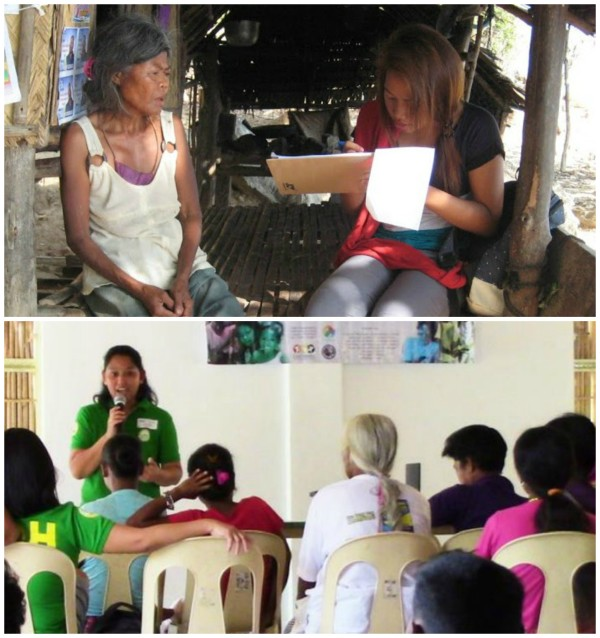 Health opportunities through LUSOG are founded on research, and bridges communities with health service providers Top photo: Household survey (April 2016) Bottom photo: Parents' assembly during LUSOG Day (February 2017)