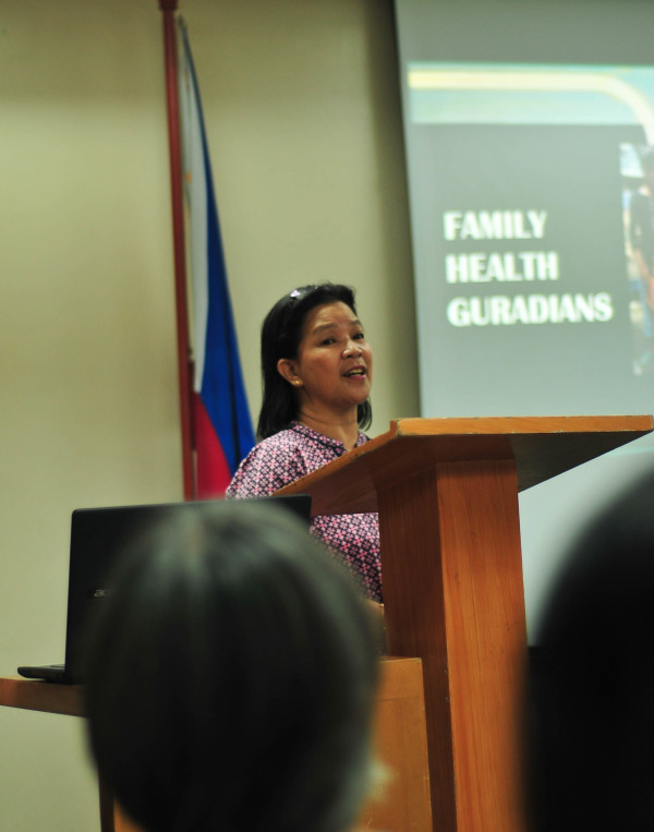 Loreta Sta. Teresa of Ateneo de Zamboanga's Center for Community Extension Services stresses building on the family's crucial role in advocating for good health practices in the community