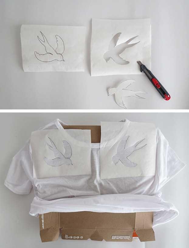 Návod, jak si vyrobit originální malované tričko_krok 2