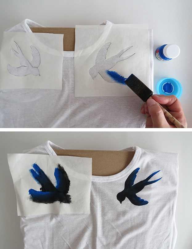 Návod, jak si vyrobit originální malované tričko_krok 3