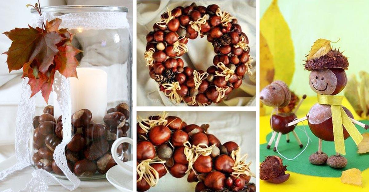 15 tipů na podzimní dekorace z kaštanů