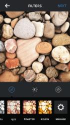 Reordering filters in Instagram, step 1.