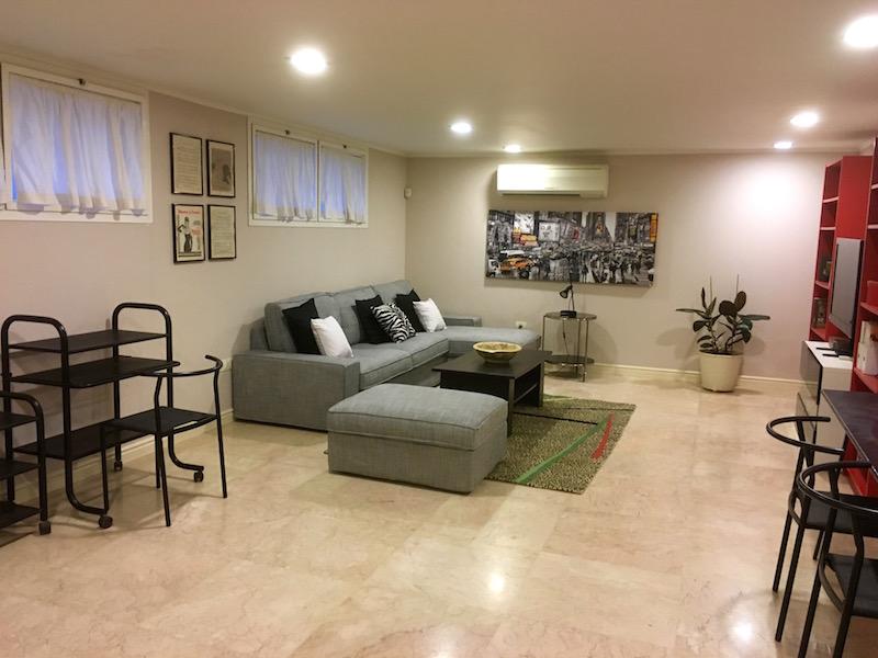 Casa Caesarea Lower Level Living Room