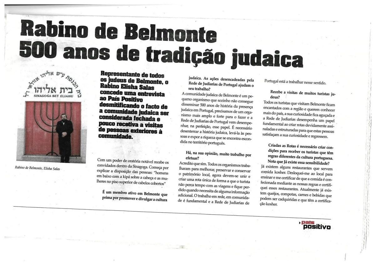 Rabino de Belmonte – 500 anos de tradição judaica