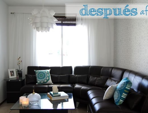 Our living room after | Nuestra sala con cortinas :) | casahaus.net
