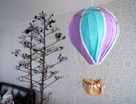 DIY hot air balloon // Globo aerostático // casahaus.net