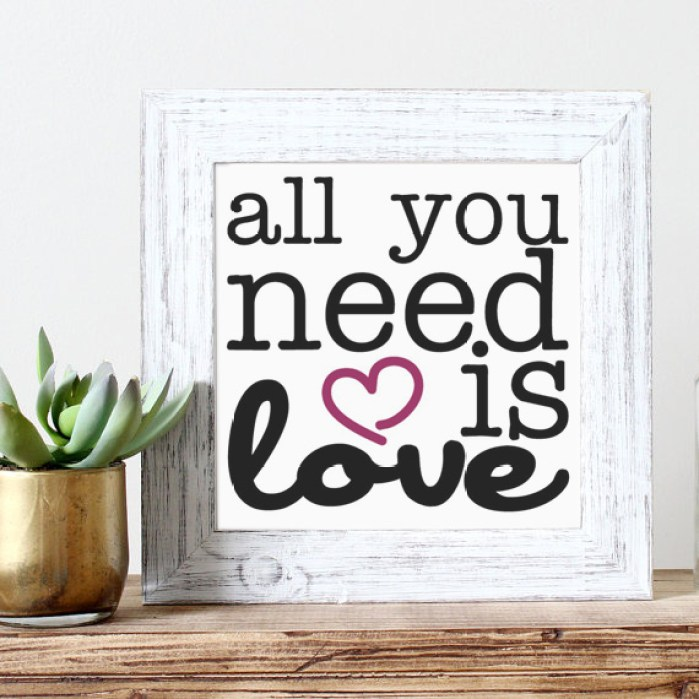 All you need is love free printable | casahaus.net
