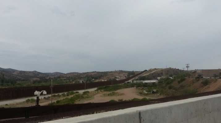 The border fence in Nogales