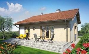 Casa prefabricada con dos habitaciones
