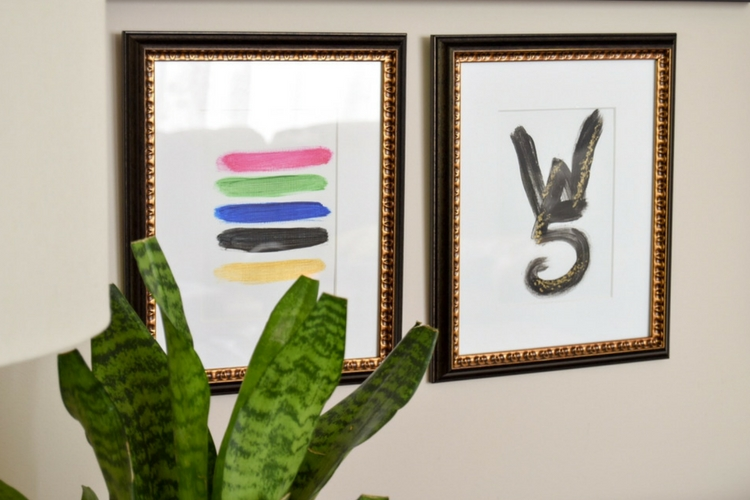 The Easiest Family Centered DIY Abstract Art