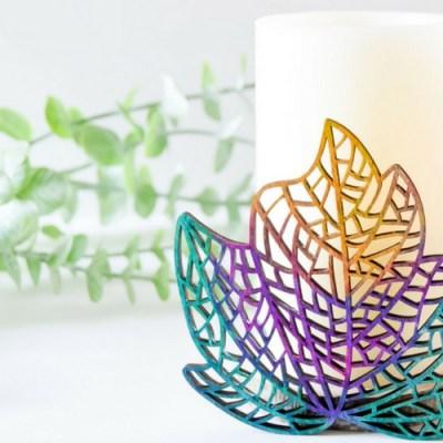DIY Colorful Wooden Candleholder