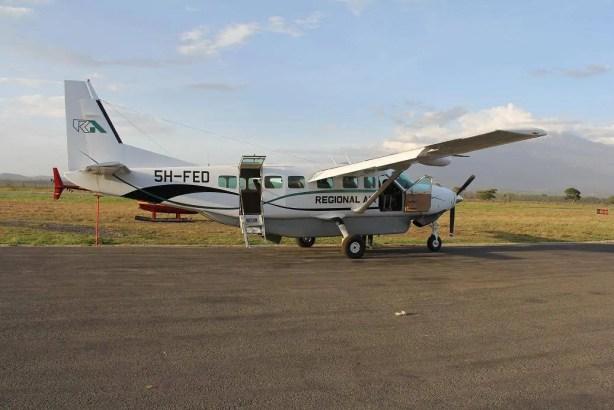 The plane that we took from Zanzibar to Dar es Salaam to Arusha