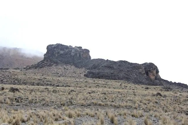 A picture of the Lava Tower on Mt. Kilimanjaro