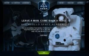 The header image for the AXE Apollo Space Academy contest.