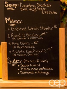 The hot table specials at the Karelia Kitchen