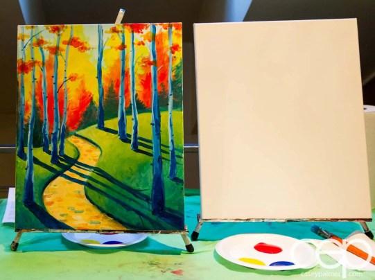#BuytopiaPaintNite — Paint Nite Toronto — Banu — Started from the Bottom