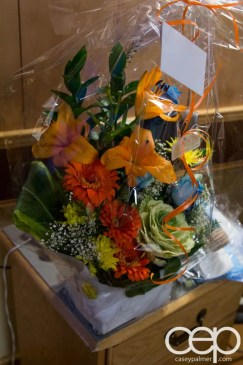 The DoomzToo Birth Story — DoomzToo's Birth — Post-Partum Room — Flowers from the Palmers