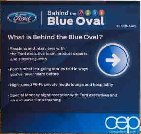 #FordNAIAS 2014 — Day 2 — Cobo Hall — Behind the Blue Oval — Entrance Sign