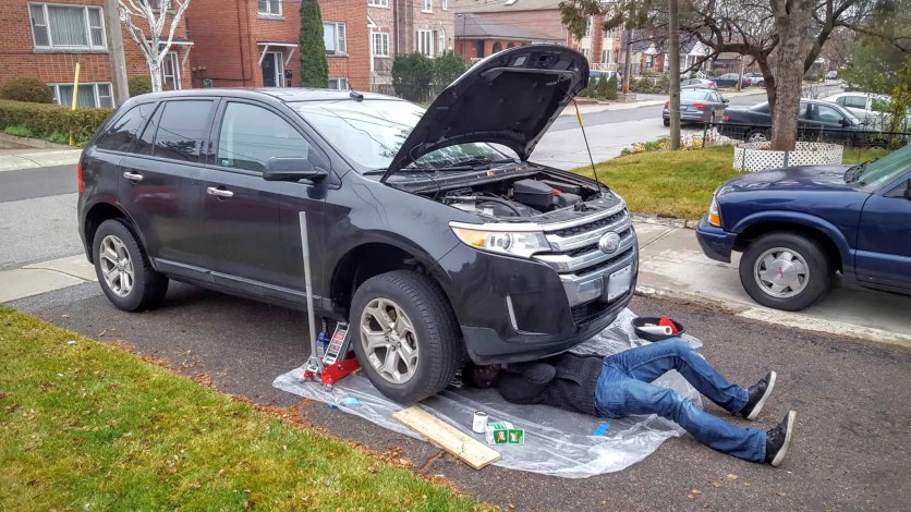The Month That Was... November 22nd - December 26th, 2015 — Casey Palmer Changing the Oil in the 2011 Ford Edge