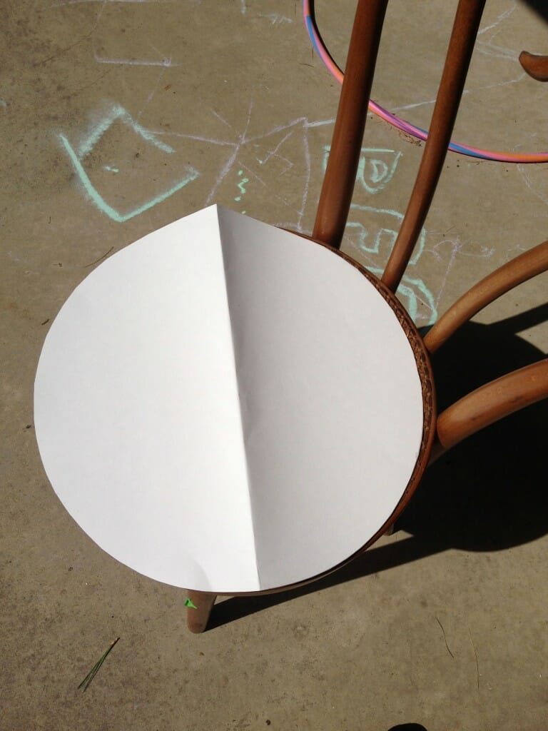 template for a bentwood chair