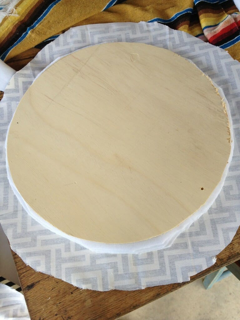 how to upholster a round seat