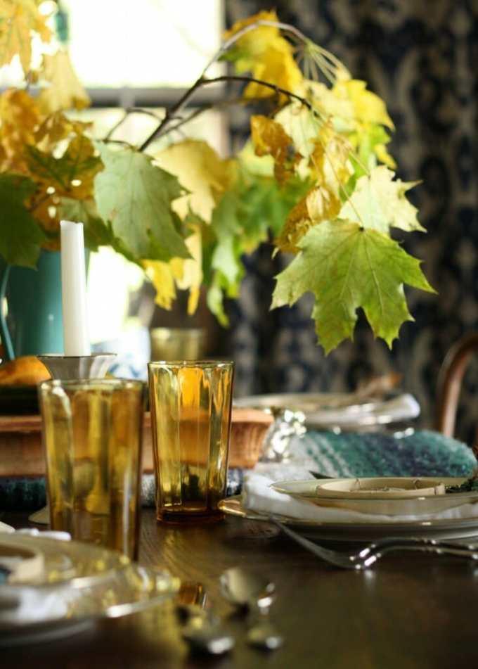 vintage amber glassware