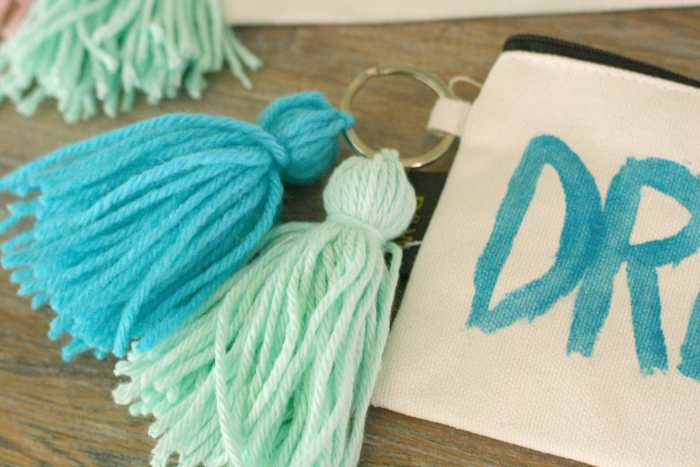 tassels on pouches