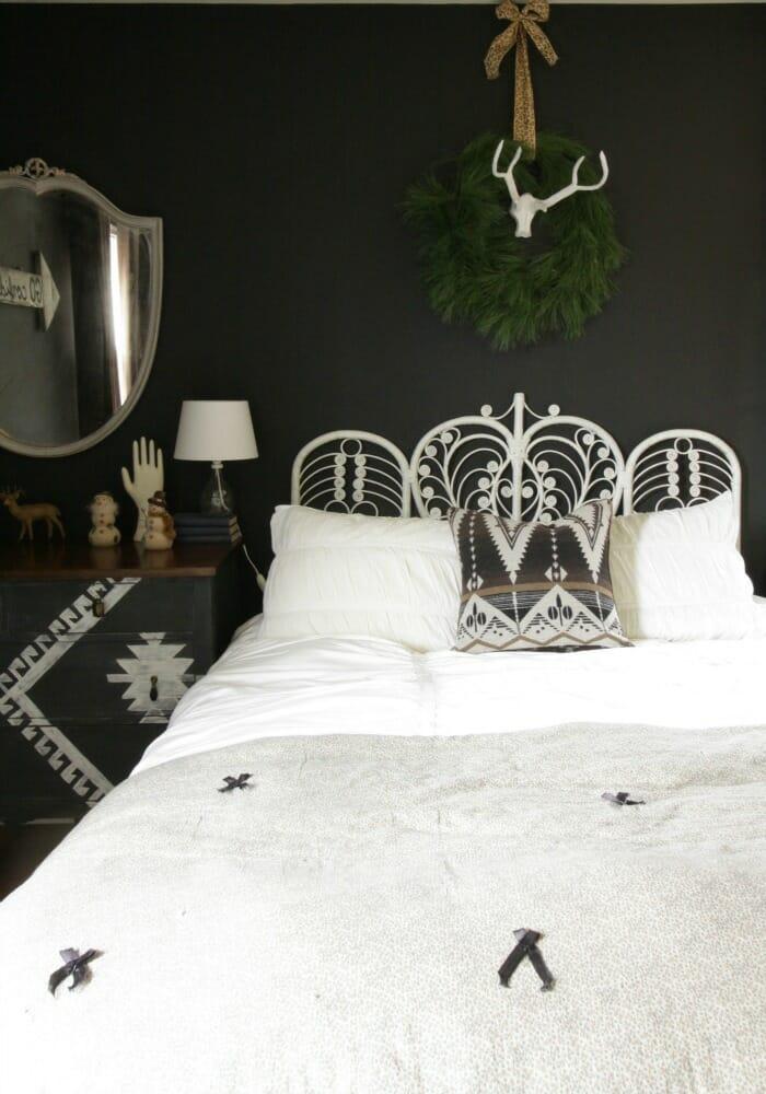 Bohemian Bedroom at Christmas