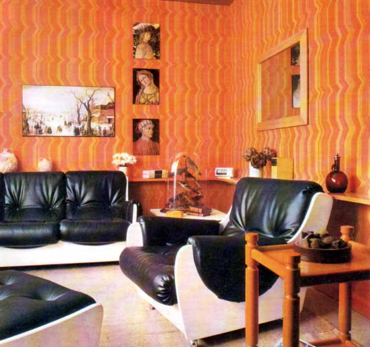 Inspirations for a retro living-room: Wall coverings