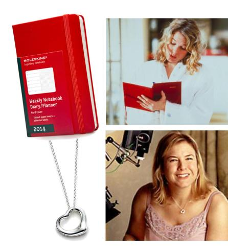 chick flick gifts from bridget jones diary movie