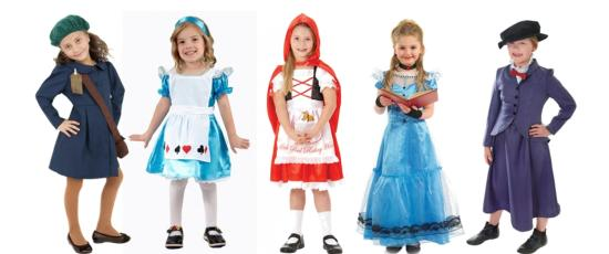 girls fancy dress for book week and world book day