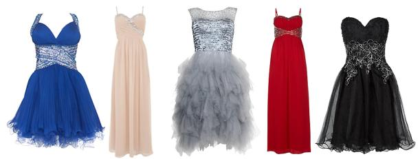 new look long and short glitzy dresses for weddings