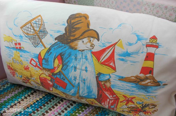 vintage Paddington Bear pillow slip cushion cover-2