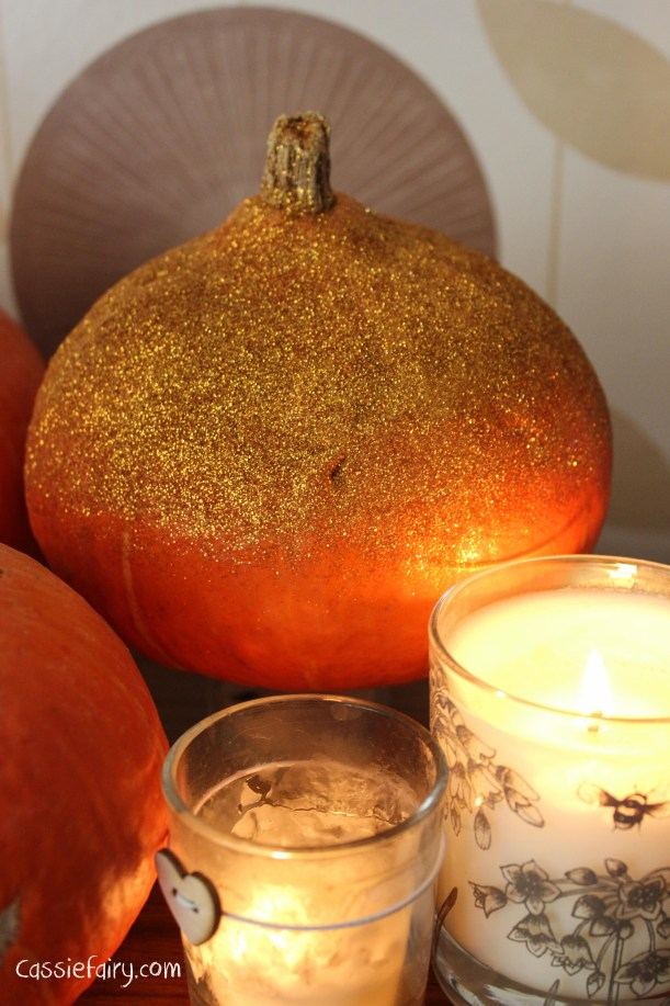 DIY glitter pumpkins for halloween - step by step tutorial-8