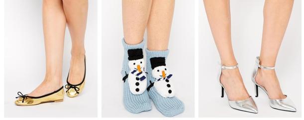 asos christmas shoes and socks