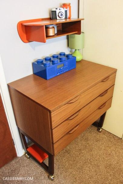 diy mid century modern desk makeover. Black Bedroom Furniture Sets. Home Design Ideas