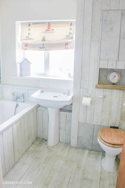 Thrifty DIY Bathroom Renovation A Beach Hut Inspired