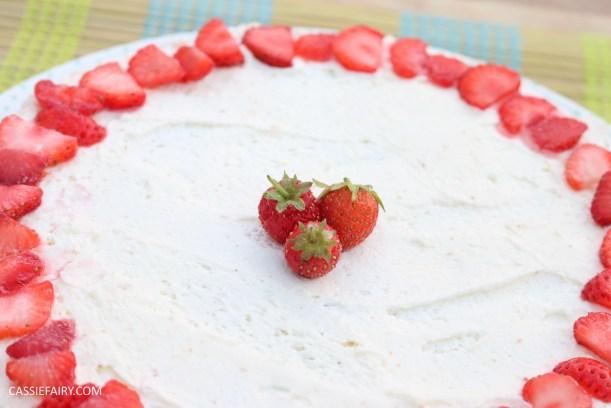 fruit cake cherry strawberry sponge bake baking recipe-6