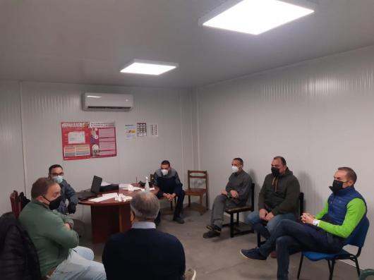 Reunión del comité de empresa y sección sindical de CCOO en Compo Factory con el secretario de empleo de CCOO-Toledo y los secretarios generales de CCOO-Industria de Toledo y de CLM.